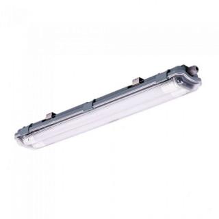 Plafoniera Singola Impermeabile con Tubo LED T8 G13 2x10W Lampadina 60 cm (tubo incluso)