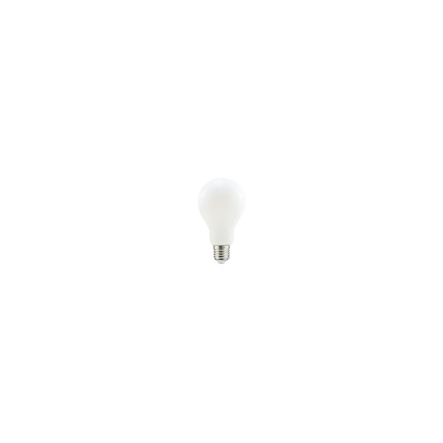 Life Lampadina LED E27 12W Bulbo A70 Filamento con vetro bianco