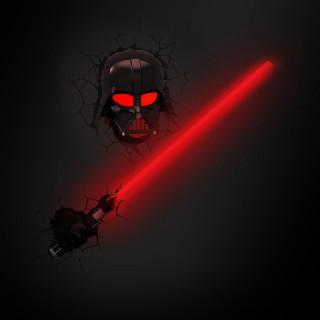 3DLightFX Star Wars Lampada LED 3D Spada Laser Darth Vader