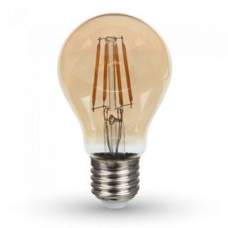 V-Tac VT-266 Lampadina LED E27 6W Bulbo A60 Filamento Ambrata con Chip Samsung