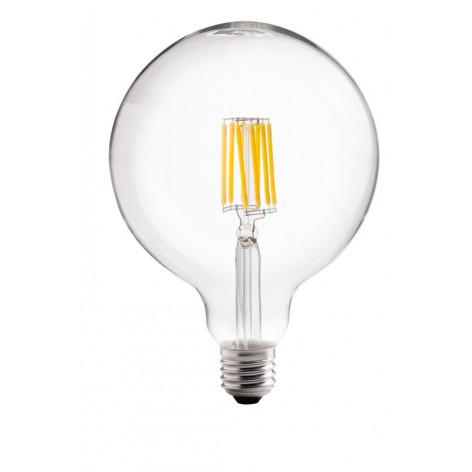 Lampadina LED E27 8W Globo G126 360° Filamento