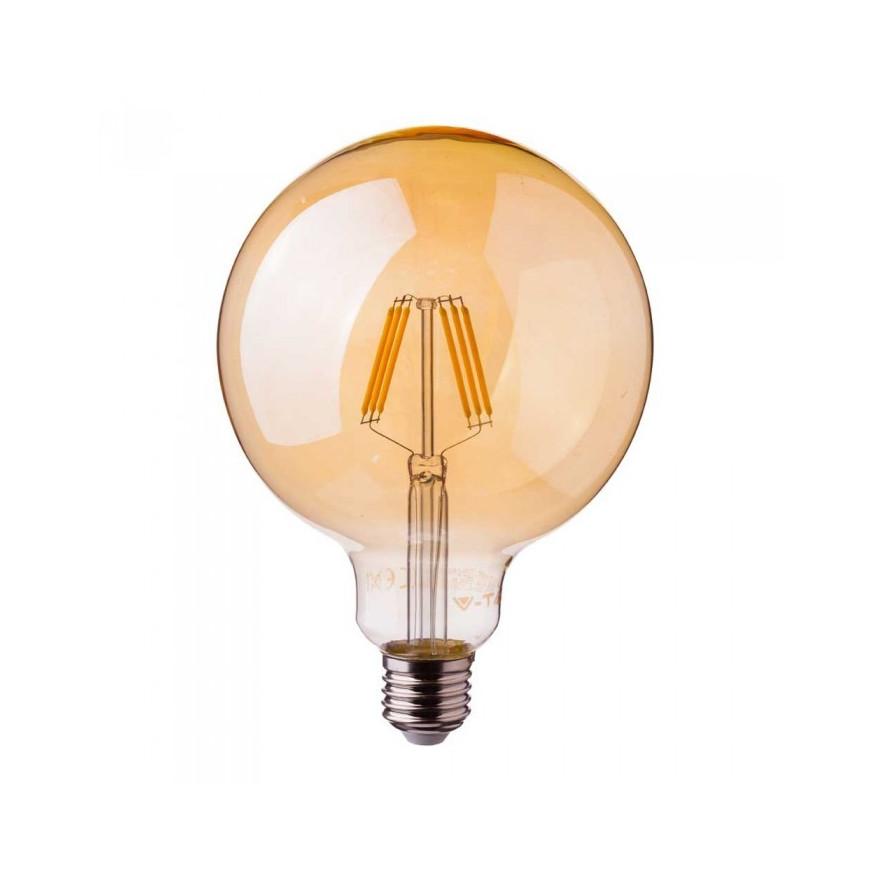 Lampadina LED E27 6W Globo G125 300° Filamento con Chip Samsung