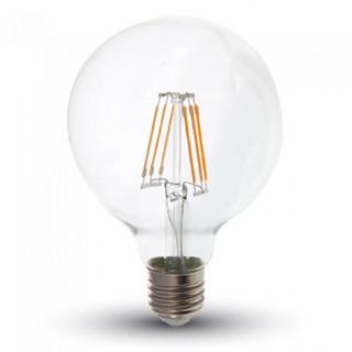 Lampadina LED E27 6W Globo G95 300° Filamento con Chip Samsung