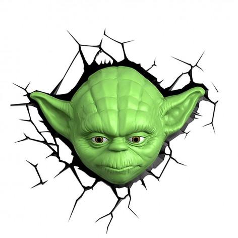 3DLightFX Star Wars Lampada LED 3D Yoda