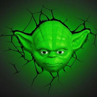 3DLightFX-Star-Wars-Lampada-LED-3D-Yoda-luce