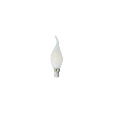 Lampadina LED E14 6W Candela Fiamma Milky Filamento