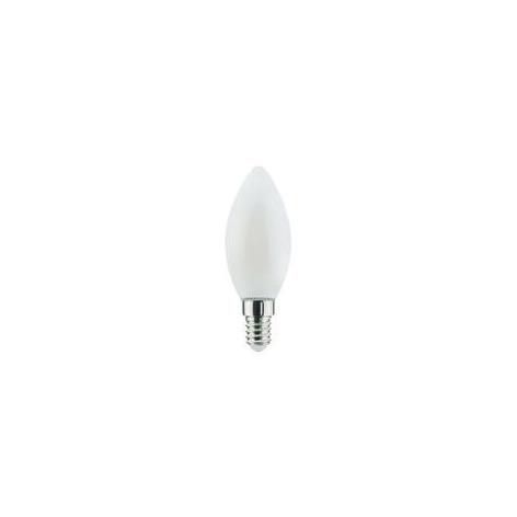 Lampadina LED E14 6W Candela Milky Filamento