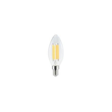 Lampadina LED E14 6W Candela Filamento 320°