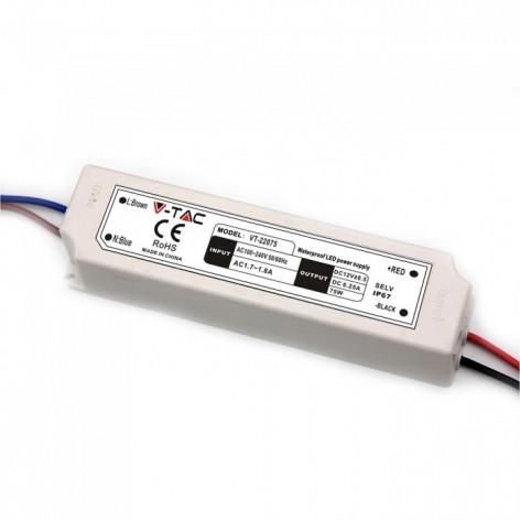 LED Alimentatore - 75W 12V IP67 Plastica 5d84ac6a37707