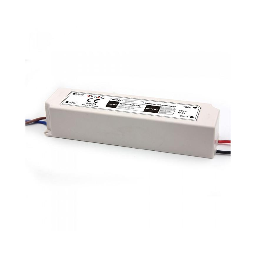 Alimentatore 60W Impermeabile IP67 a 1 Uscita Con Cavi a Saldare 12V