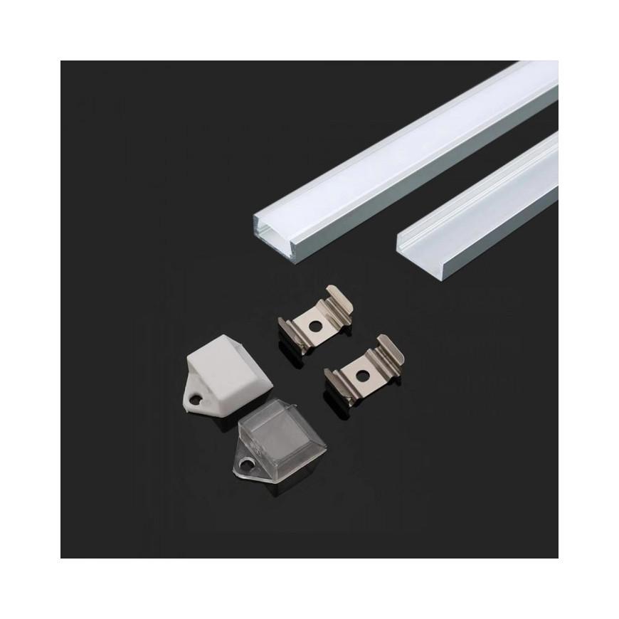 Profilo in Alluminio Per Strisce LED Lunghezza 2 Metri