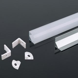 Profilo Angolare in Alluminio Per Strisce Led - 2 Metri