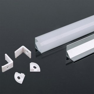 Profilo Angolare in alluminio Per Strisce LED - 2 Metri Bianco