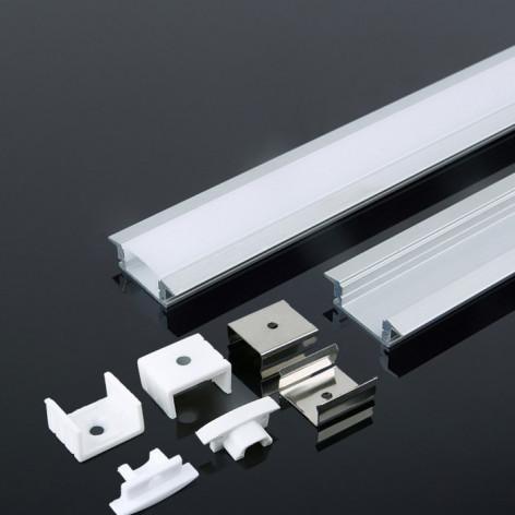Profilo in Alluminio Per Strisce LED - 2 Metri Grigio