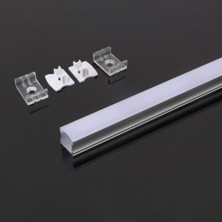 Profilo In Alluminio Per Strisce LED - 2 Metri Colore Grigio