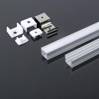 Profilo In Alluminio Per Strisce a LED - 2 metri - sku 3358