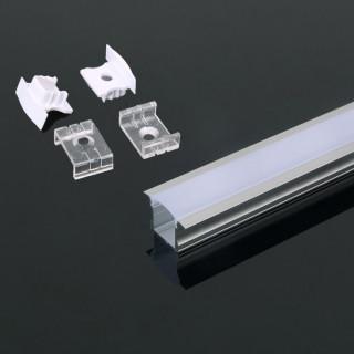 Profilo In Alluminio Per Strisce a LED - 2 metri sku 3351