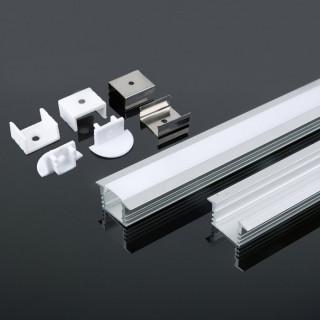 Profilo In Alluminio Per Strisce LED - 2 metri - sku 3357