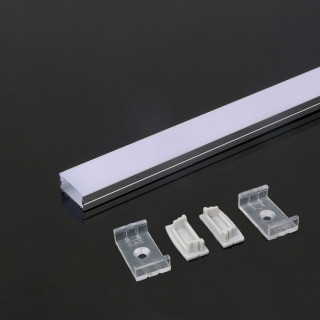 Profilo In Alluminio Per Strisce a LED - 2 Metri Bianco sku 3367