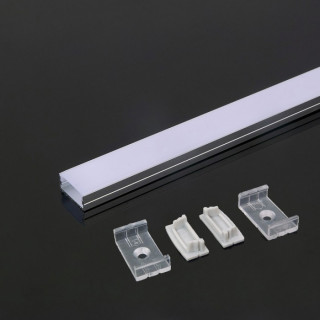 Profilo in Alluminio 2000 x 23.5 x 10mm Milky 5d8c8c3704572
