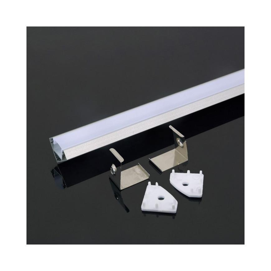 Profilo in Alluminio 2000 x 19 x19mm Milky 5d8c8c3a29730