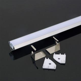 Profilo Angolare In Alluminio Per Strisce LED - 2 Metri sku 3364