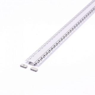 Profilo In Alluminio a Scomparsa Per Strisce a LED - 2 metri sky 3359