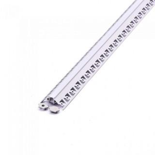 Profilo Angolare In Alluminio a Scomparsa/Incasso Per Strisce LED - 2 Metri sku 3361
