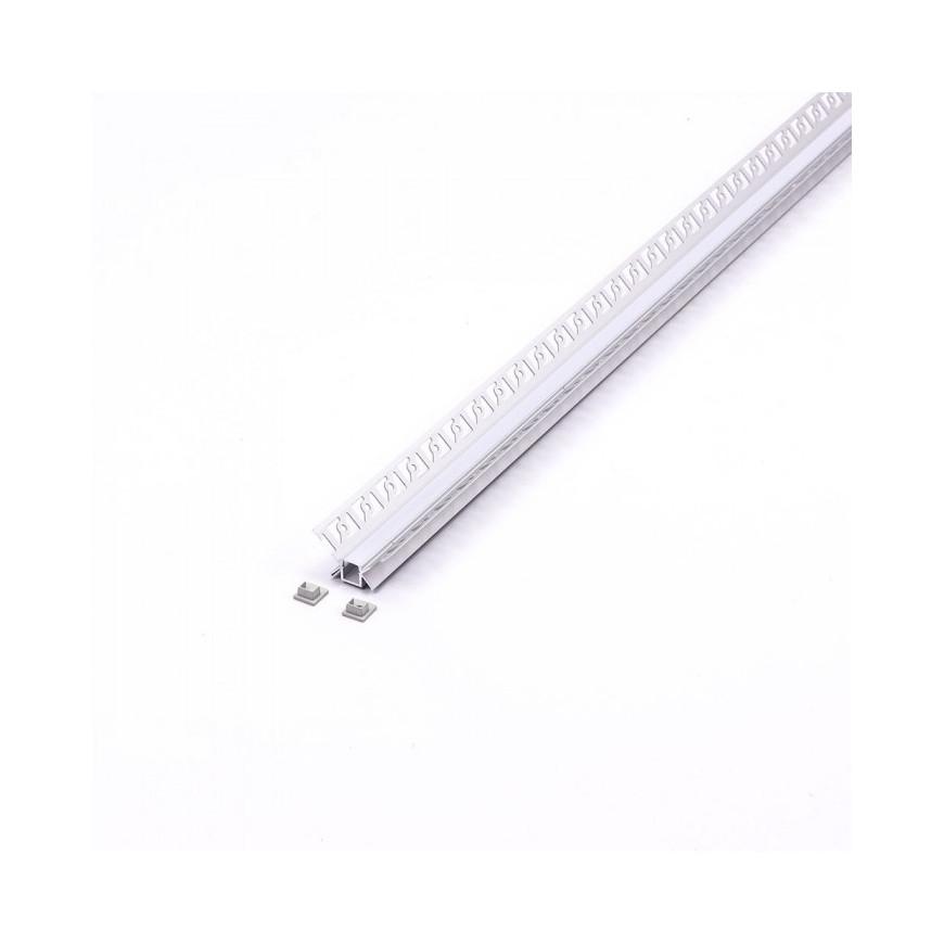 Profilo Angolare In Alluminio a Scomparsa/Incasso Per Strisce LED - 2 Metri sku 3362