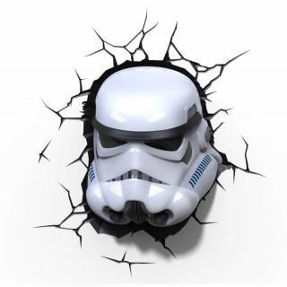 Lampada LED 3D Star Wars Stormtrooper da parete a batteria