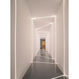 Profilo In Alluminio a Scomparsa/Incasso Per Strisce LED - 2 Metri sku 3360 - Esempio Applicazione