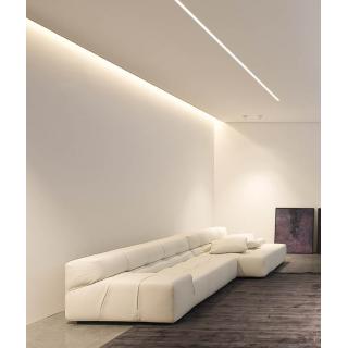 Profilo Angolare In Alluminio a Scomparsa/Incasso Per Strisce LED - 2 Metri sku 3361 - Esempio applicativo