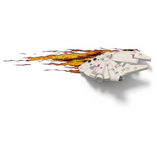 Lampada LED 3D Star Wars Millennium Falcon da parete a batteria