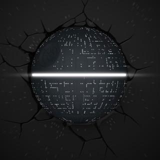 Lampada LED 3D Star Wars Morte Nera da parete a batteria luce