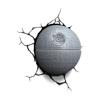 Lampada LED 3D Star Wars Morte Nera da parete a batteria