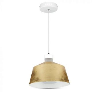 Lampadario LED 7W Campana Color Oro Diametro 250 mm