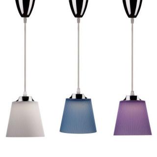 Lampadario LED 7W Campana In Plastica Colorata Attacco Cromato