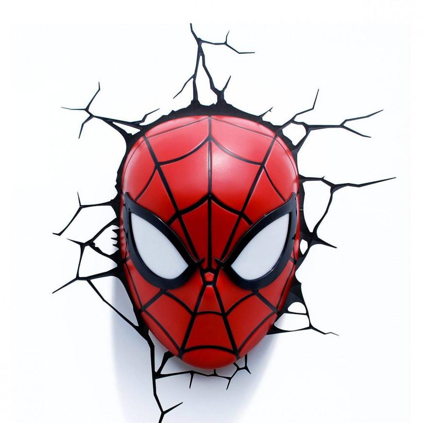 Lampada LED 3D Marvel Avengers Spiderman da parete a batteria