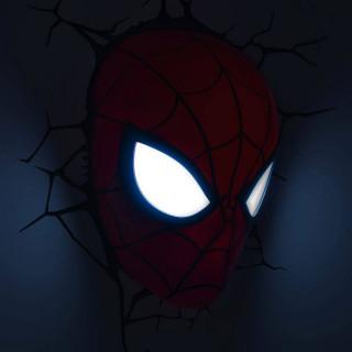 Lampada LED 3D Marvel Avengers Spiderman modalità occhi
