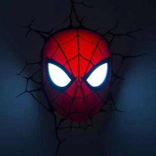 Lampada LED 3D Marvel Avengers Spiderman modalità occhi e maschera