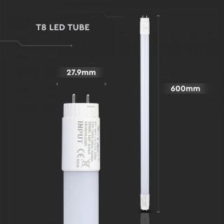 V-Tac VT-6072 Tubo LED T8 G13 Lampada 10W 60cm 850 lumen Nanoplastic