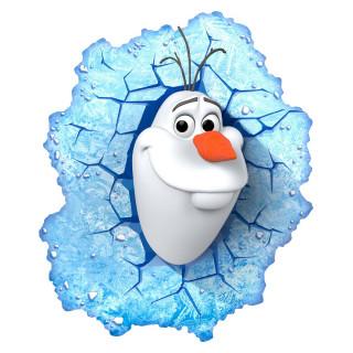 Lampada LED 3D Disney Frozen Olaf da parete a batteria