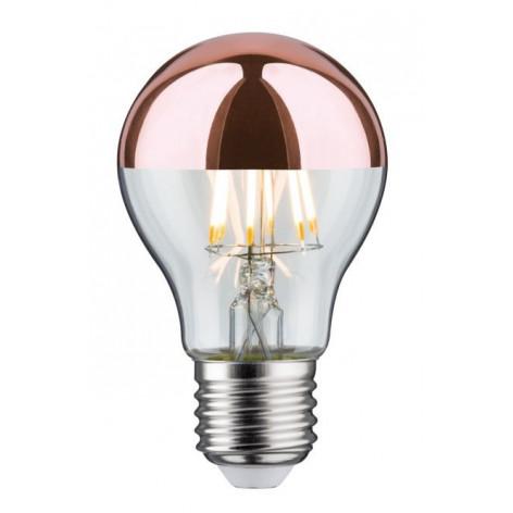Lampadina LED E27 7,5W Bulbo A60 Filamento con calotta rame a specchio