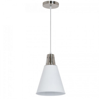 Lampadario in metallo con portalampada E27 bianco