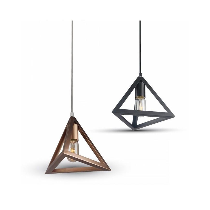 V tac lampadario a sospensione triangolare in metallo con for Lampadari con lampade a led