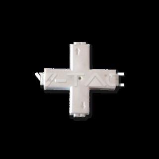V-Tac Sku: 3509 Connettore Angolare Consecutivo a X per Strisce LED Monocolore 3528 2 Pin