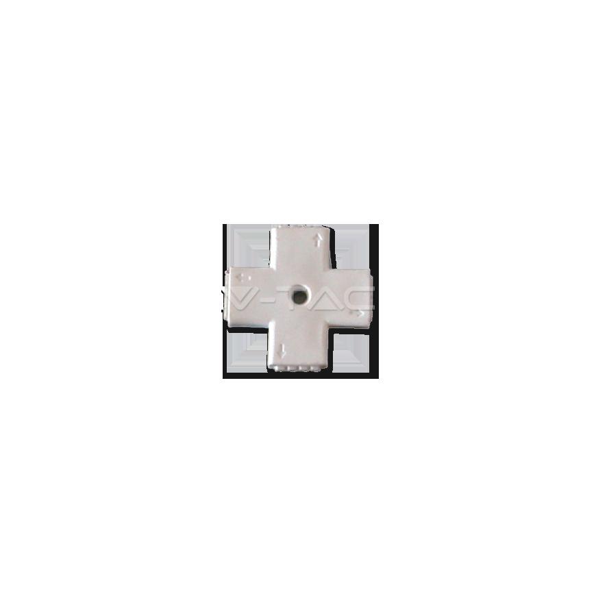 V-Tac Sku:3510 Connettore Angolare Consecutivo a X per Strisce LED Multicolore RGB 5050 4 Pin