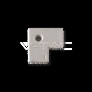 V-Tac Sku: 3511 Connettore Angolare Consecutivo a L per Strisce LED Multicolore RGB 5050 4 Pin