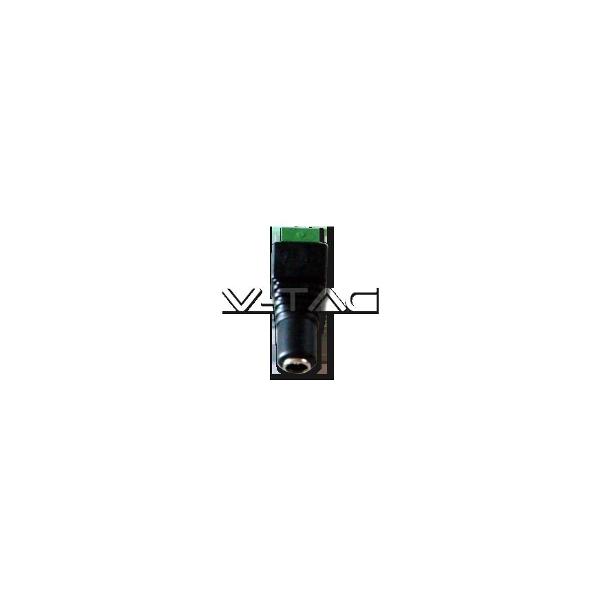 V-Tac Sku: 3512 Connettore da Morsetti a Vite a Jack 2.1 per Strisce LED Monocolore