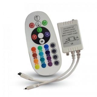 V-Tac SKU: 3625 Controller per Strisce LED RGB con Telecomando 24 Tasti
